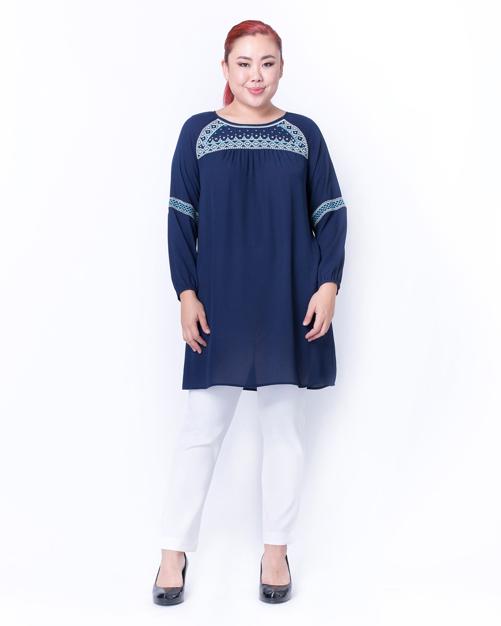 3ca9ae91afb EMBROIDERED PEASANT TUNIC by MS. READ Malaysia (plus size clothing ...