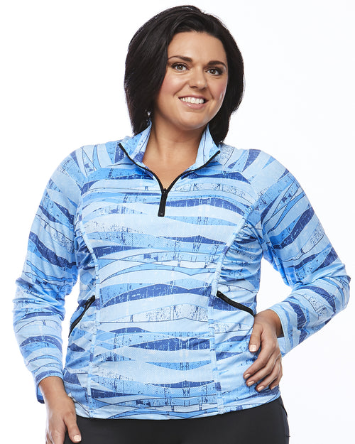 Stay Cool Long Sleeve Shirt -Blue