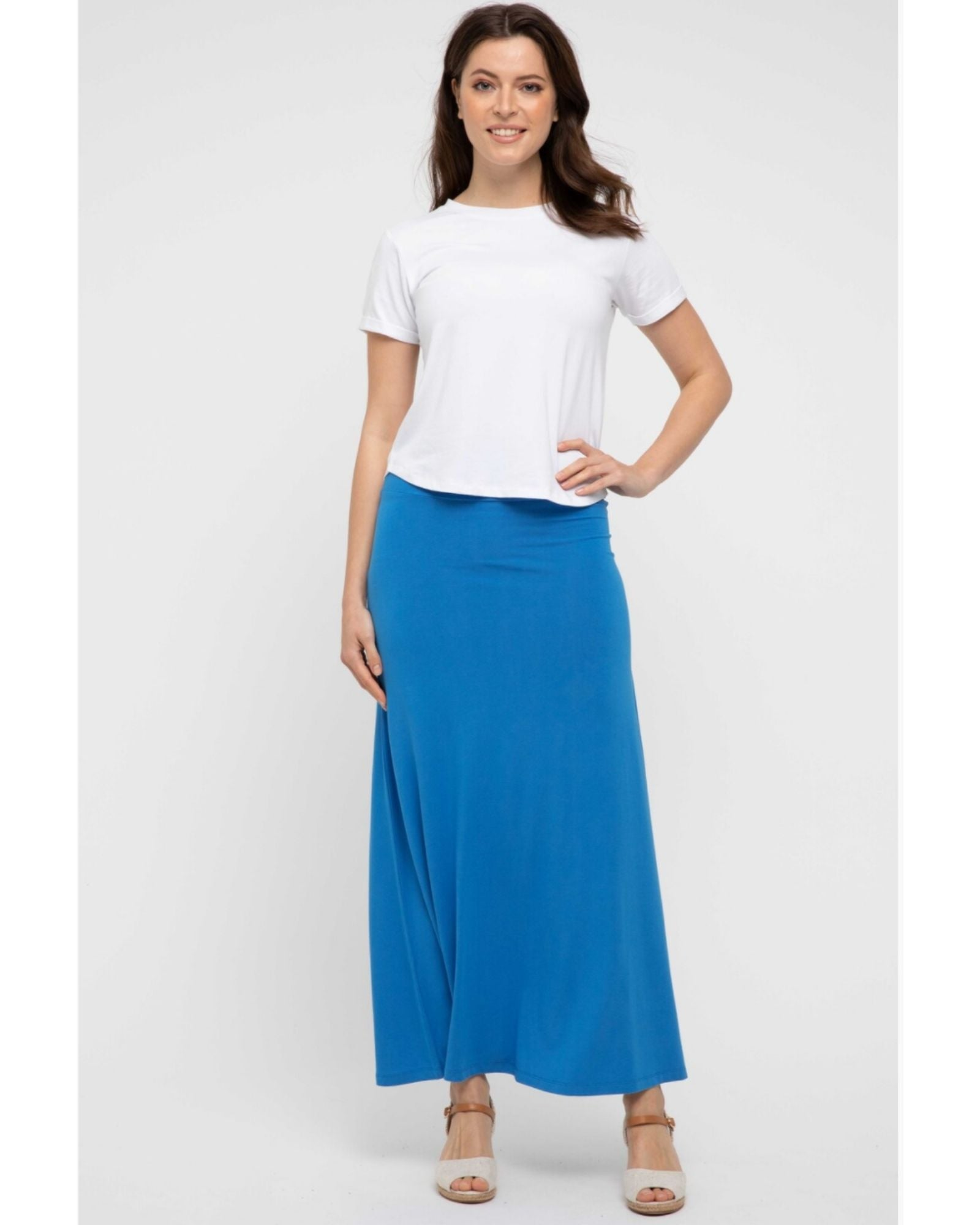 Bamboo Lana Skirt - French Blue -Size 10-22