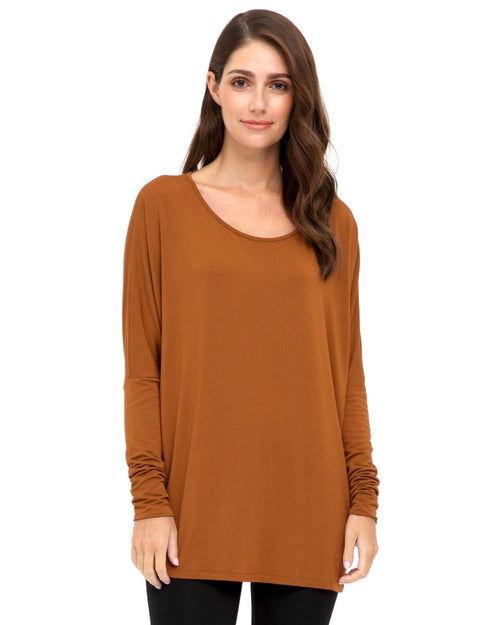Bamboo Liv Long Sleeve Slouch Top Size 10-24