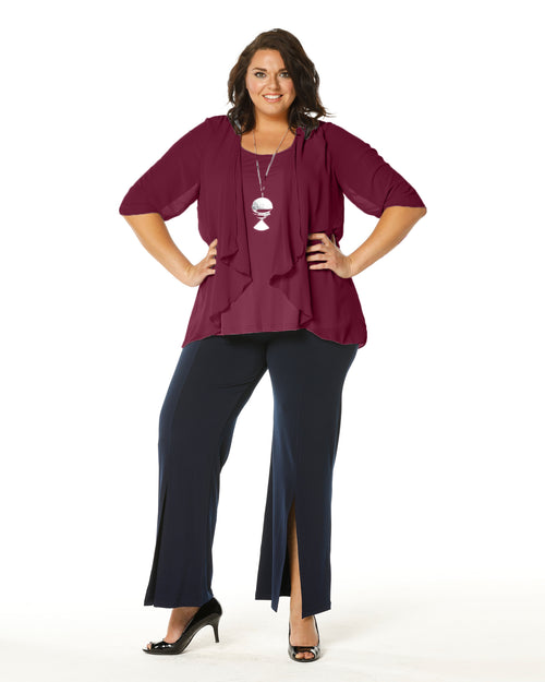 Linda 2 In 1 Tunic - Port Last size12,22,24
