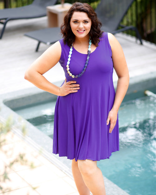 Knit Dress - Purple LAST ONE SIZE 18