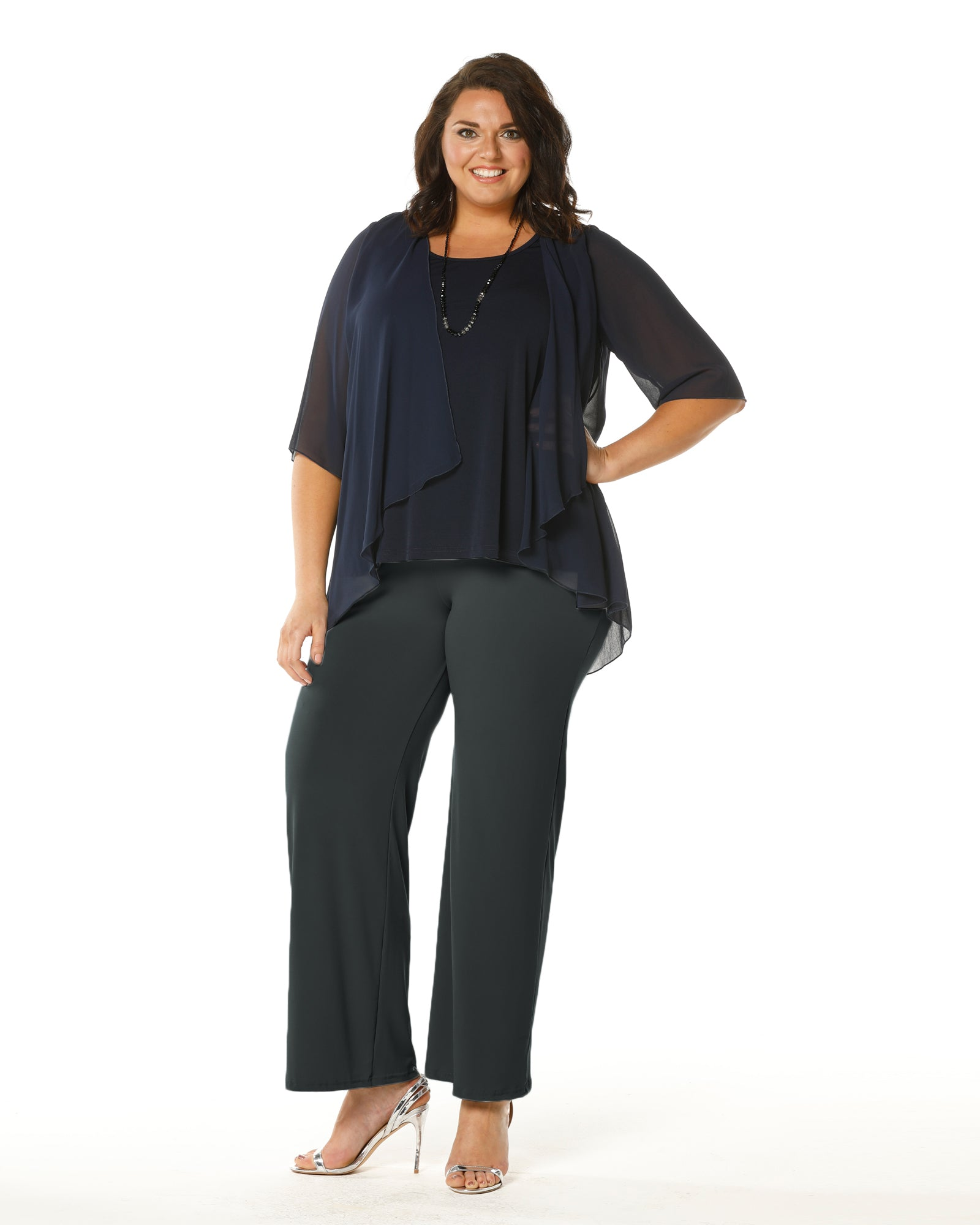 45ff91695b9 Plus Size Jersey knit pants -cobalt