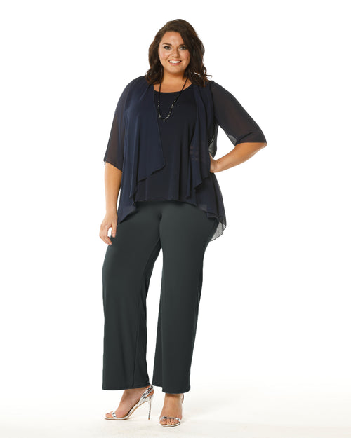 Straight Leg Pant Charcoal -Size 22 left