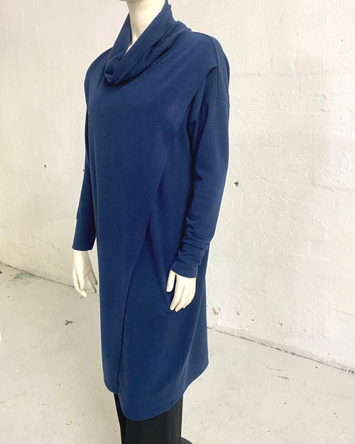 Knit Tunic Top Navy - Sizes 10-18