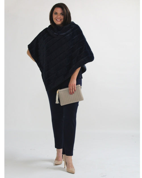 Super Soft Poncho - Navy