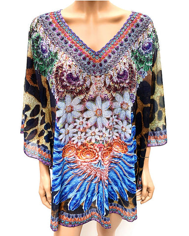 Beaded Kaftan Top