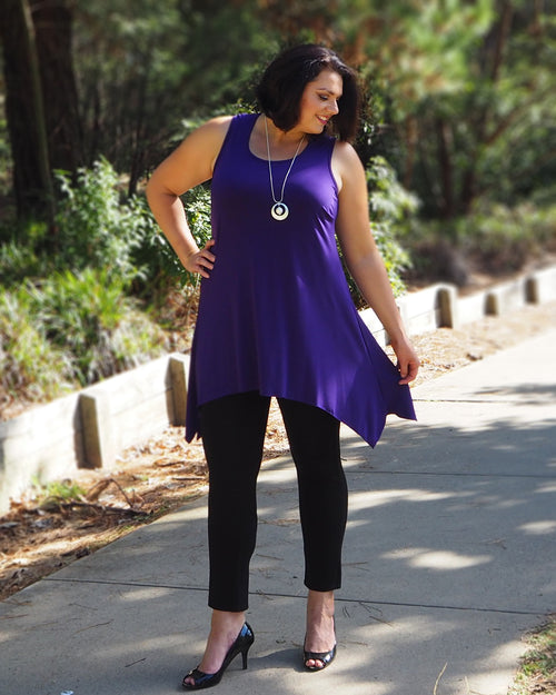 Soft Knit Tunic - Purple size14&18