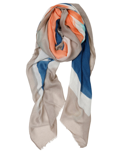 Blue & Orange Mix Scarf