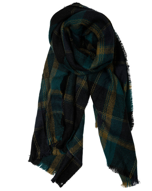 Blue Check Scarf