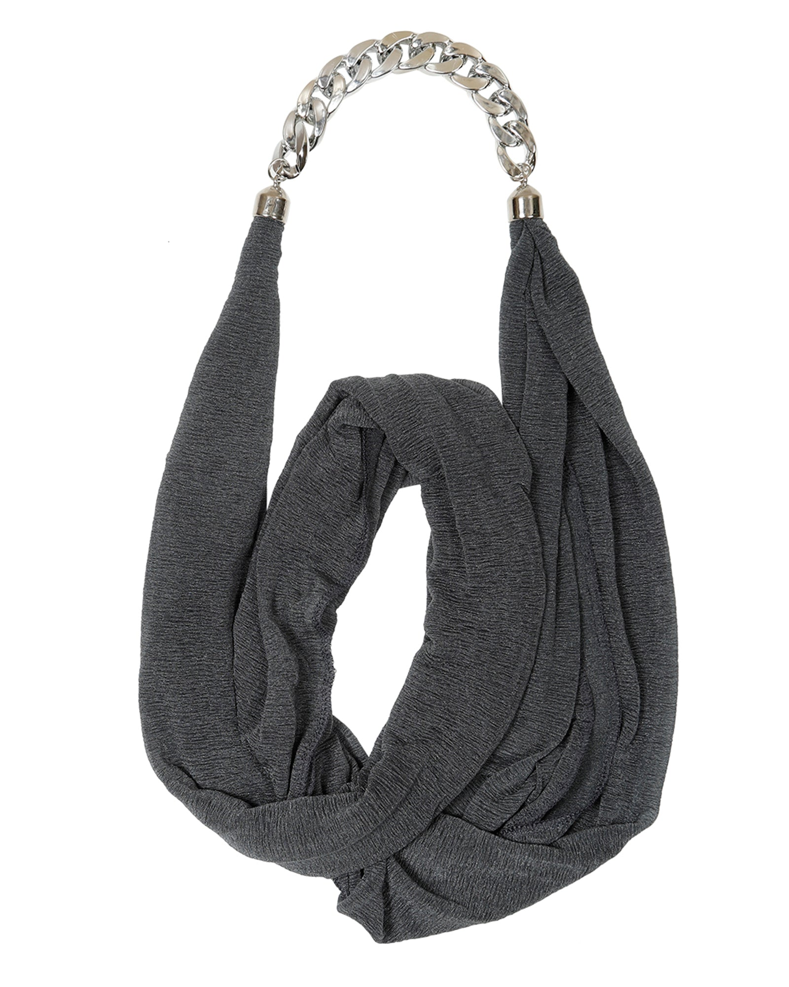 Black Chain Detail Scarf