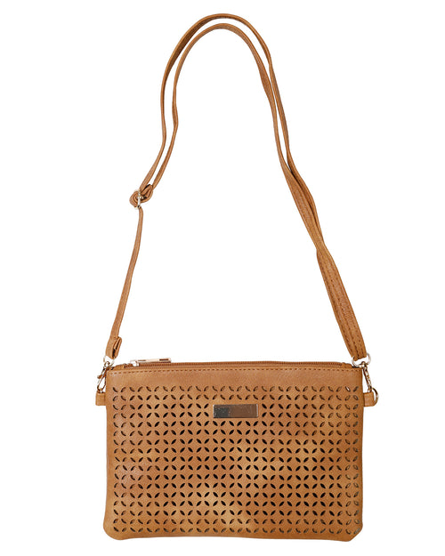 Stylish Clutch /Shoulder Bag - Tan