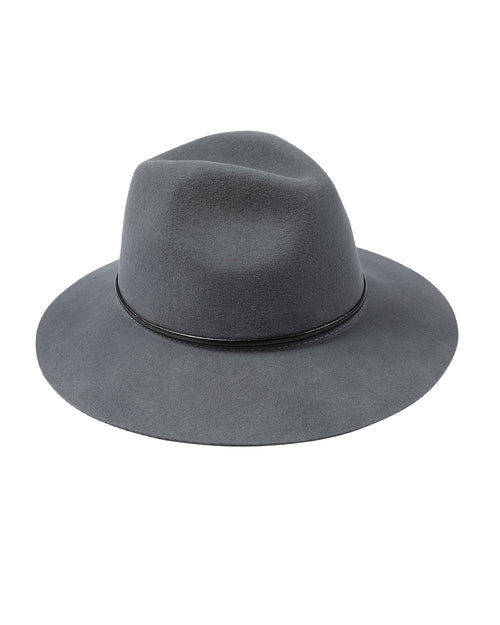 100% Wool Soft Grey Felt Hat