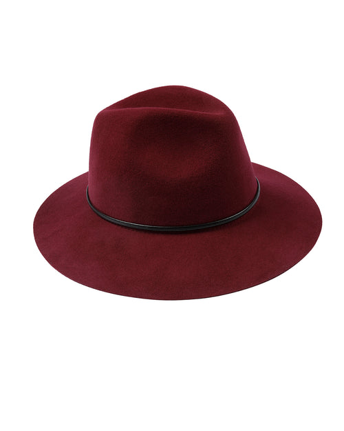 100% Wool Burgundy Felt Hat