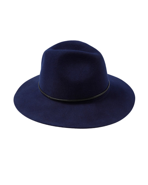 100% Wool Navy Felt Hat