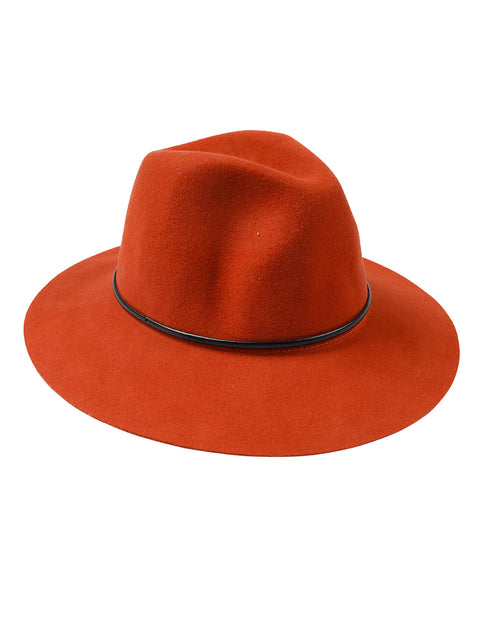 100% Wool Rust Felt Hat