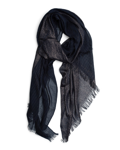 Shimmer Scarf- Midnight Blue