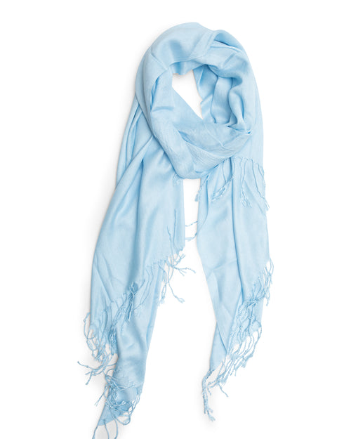 Pashmina Silk Scarf - Soft Blue