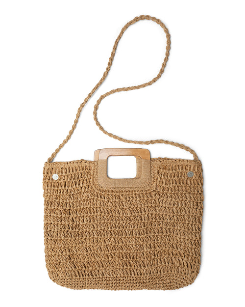 Square Crochet Bag - Tan