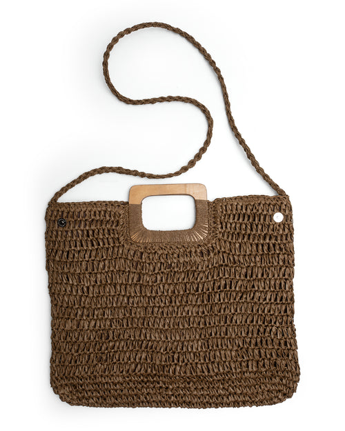 Square Crochet Bag - Chocolate