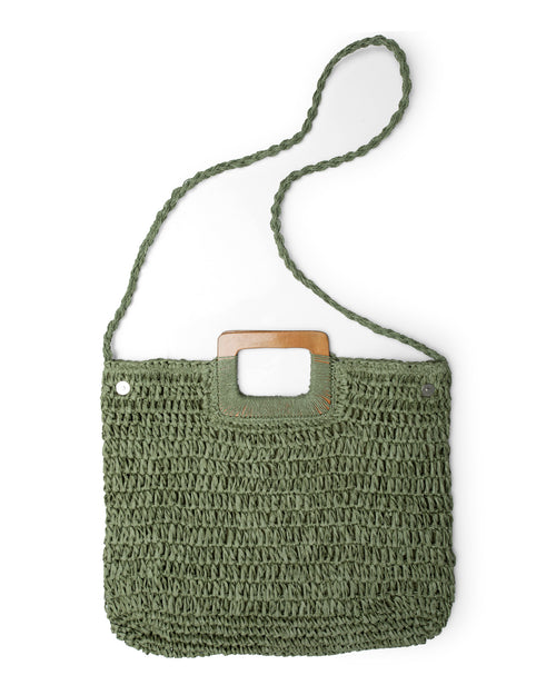 Square Crochet Bag - Khaki