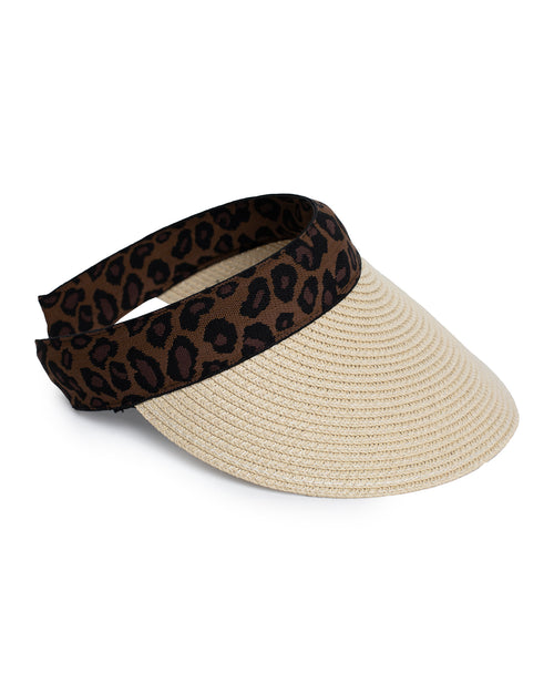 Sun Visor  - Animal Trim - Natural