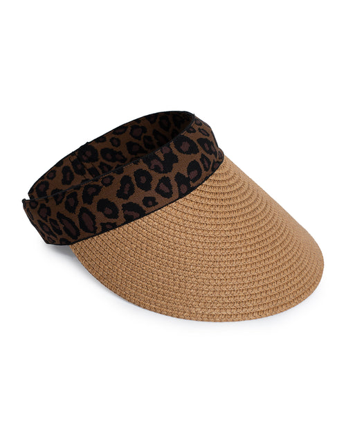 Sun Visor  - Animal Trim -Tan