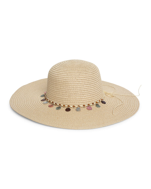Shell Beaded Sun Hat - Natural