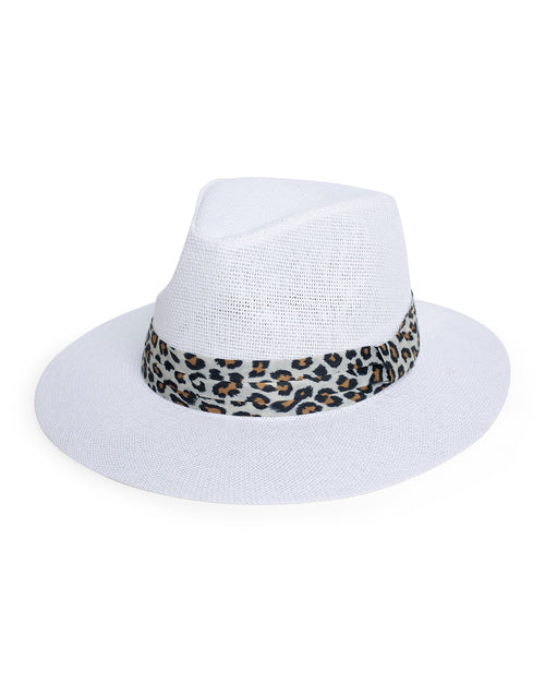 Animal Trim Hat- White