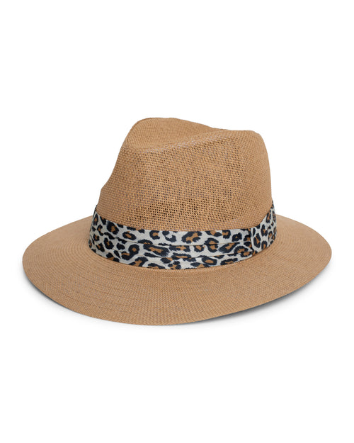 Animal Trim Hat- Tan