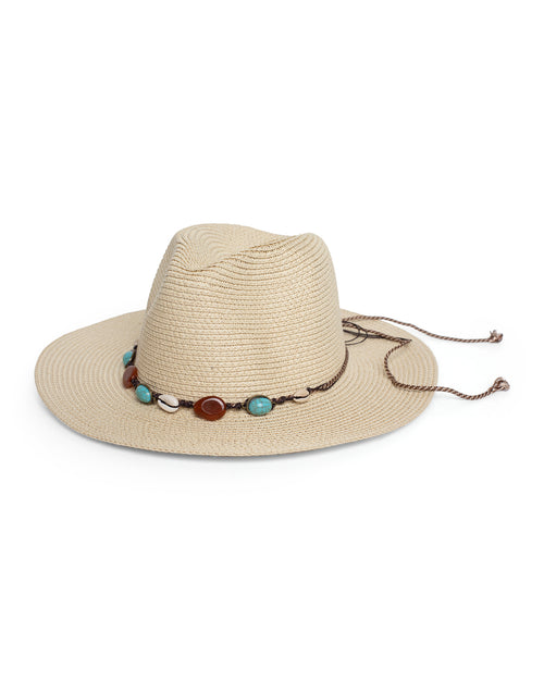Mixed Stone Fedora - Natural