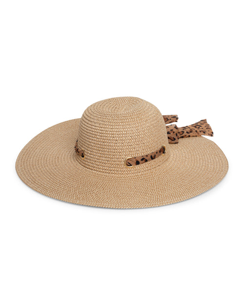 Snake Ribbon Sun Hat - Tan