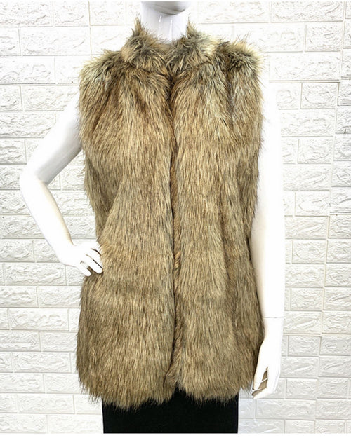 Faux Fur Vest - Natural
