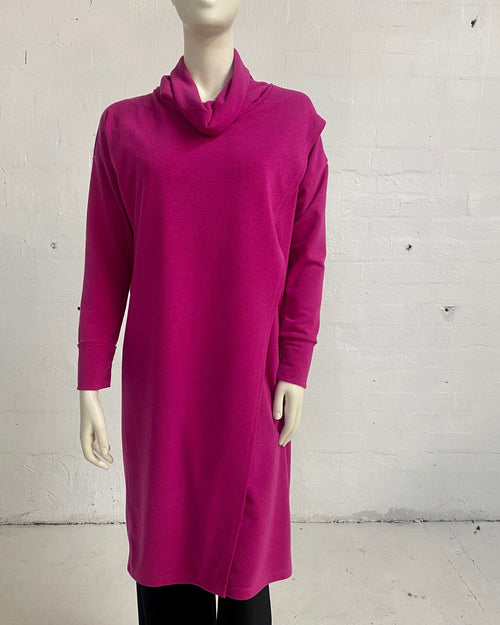 Knit Tunic Top Pink - Sizes 10-18