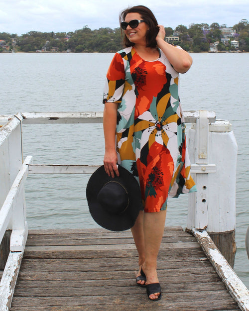 Pocket Dress - Abstract Floral size 20