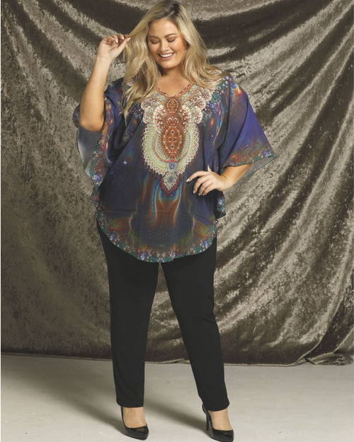 Purple Kaftan Top