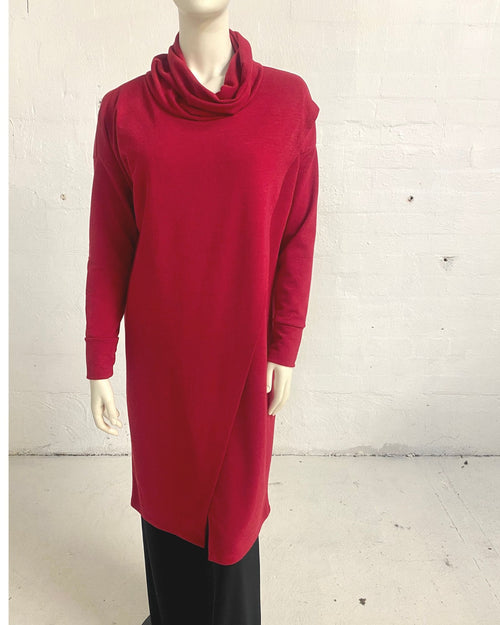 Knit Tunic Top Red - Sizes 10-18
