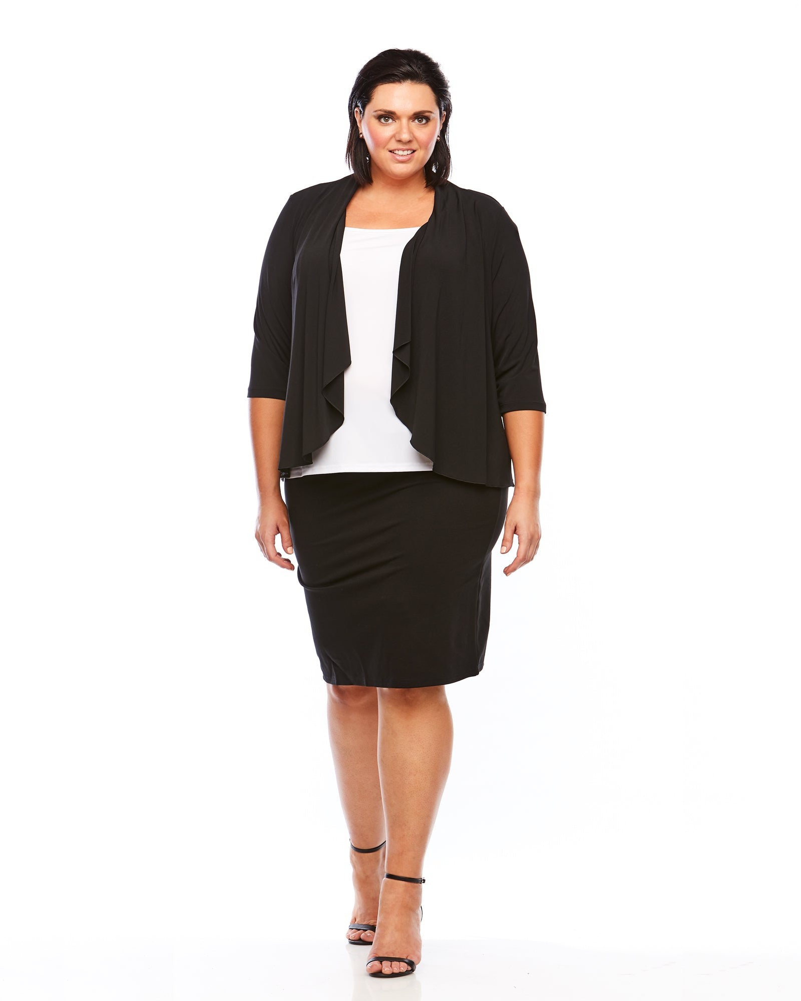 Room To Move Ponte skirt, Plus size skirt, ponte skirt, black skirt