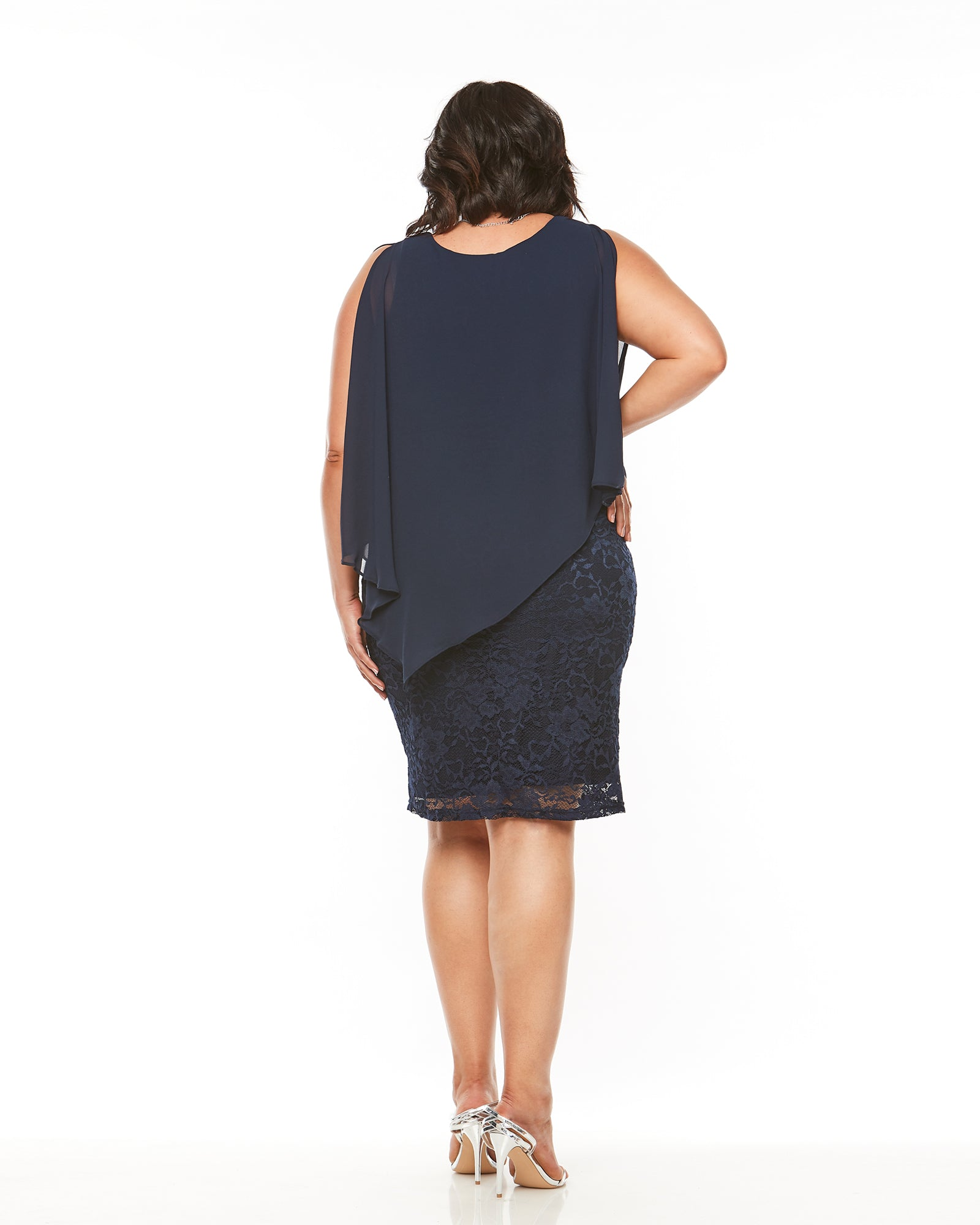 Michelle Lace Dress -Navy 12-26