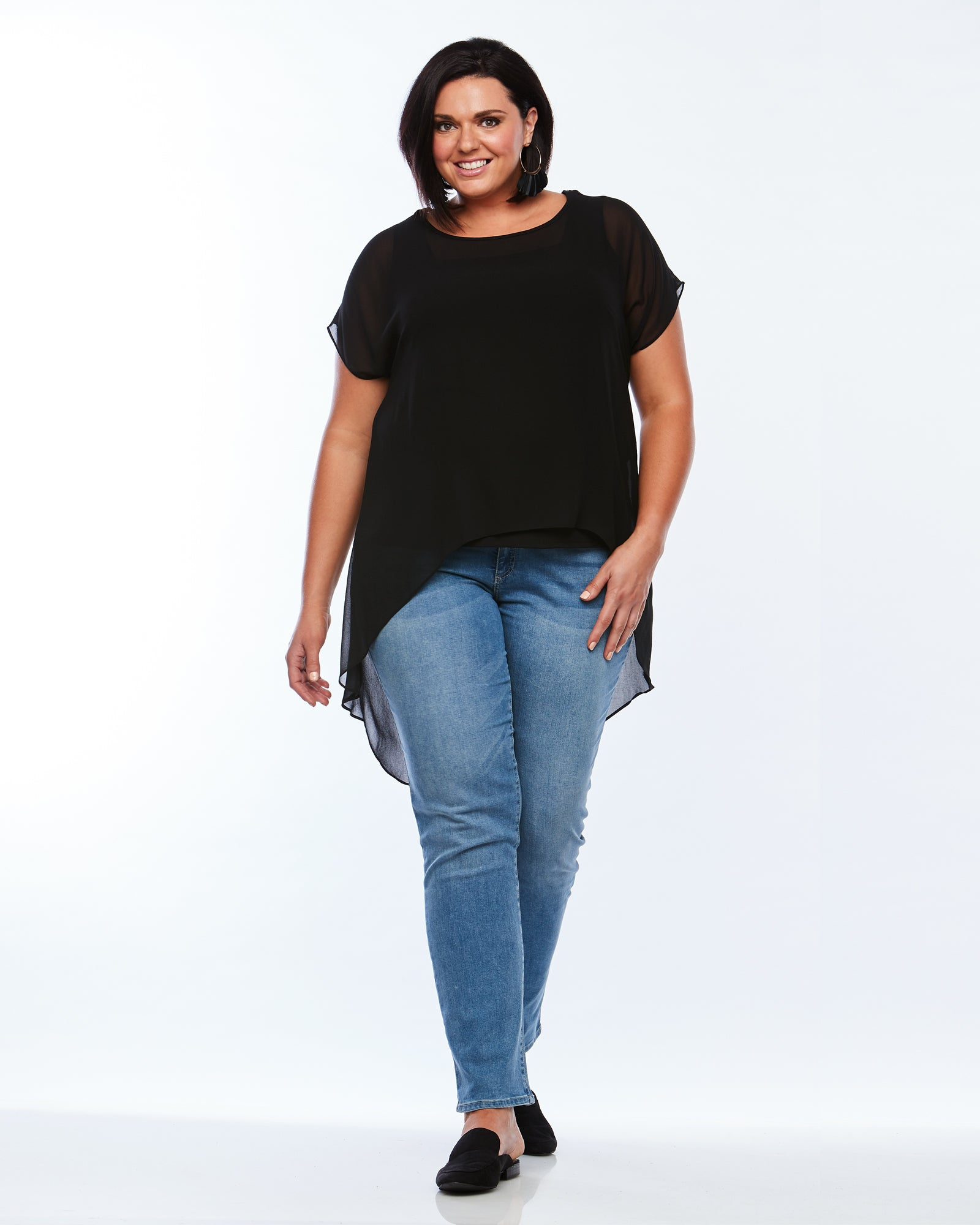 Room To Move Top, Plus size Top, black top