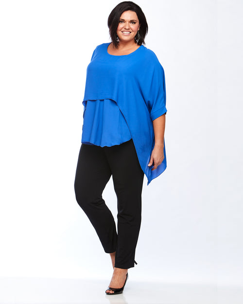 Room To Move Top, Plus Size Top, Plus Size Blue Top