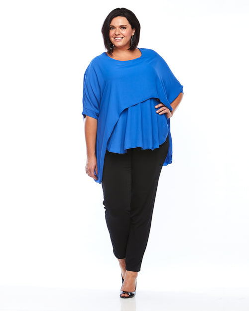 Plus Size Blue Top, Room To Move Plus Size Top