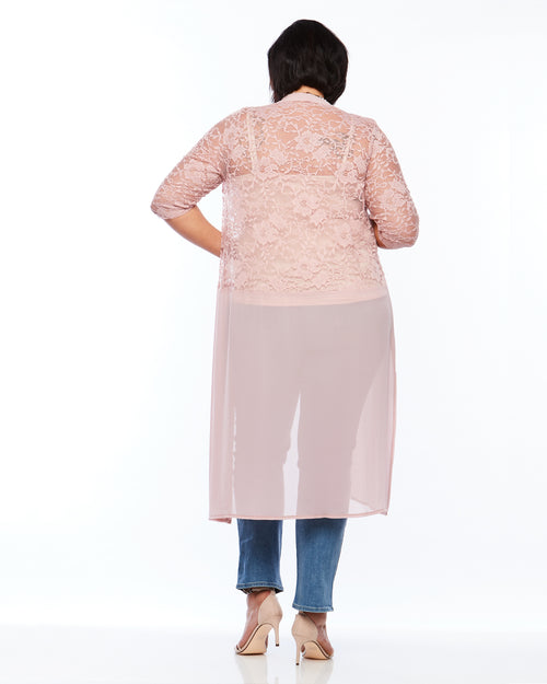 Pink Lace Cover up, Room To Move Cardigan