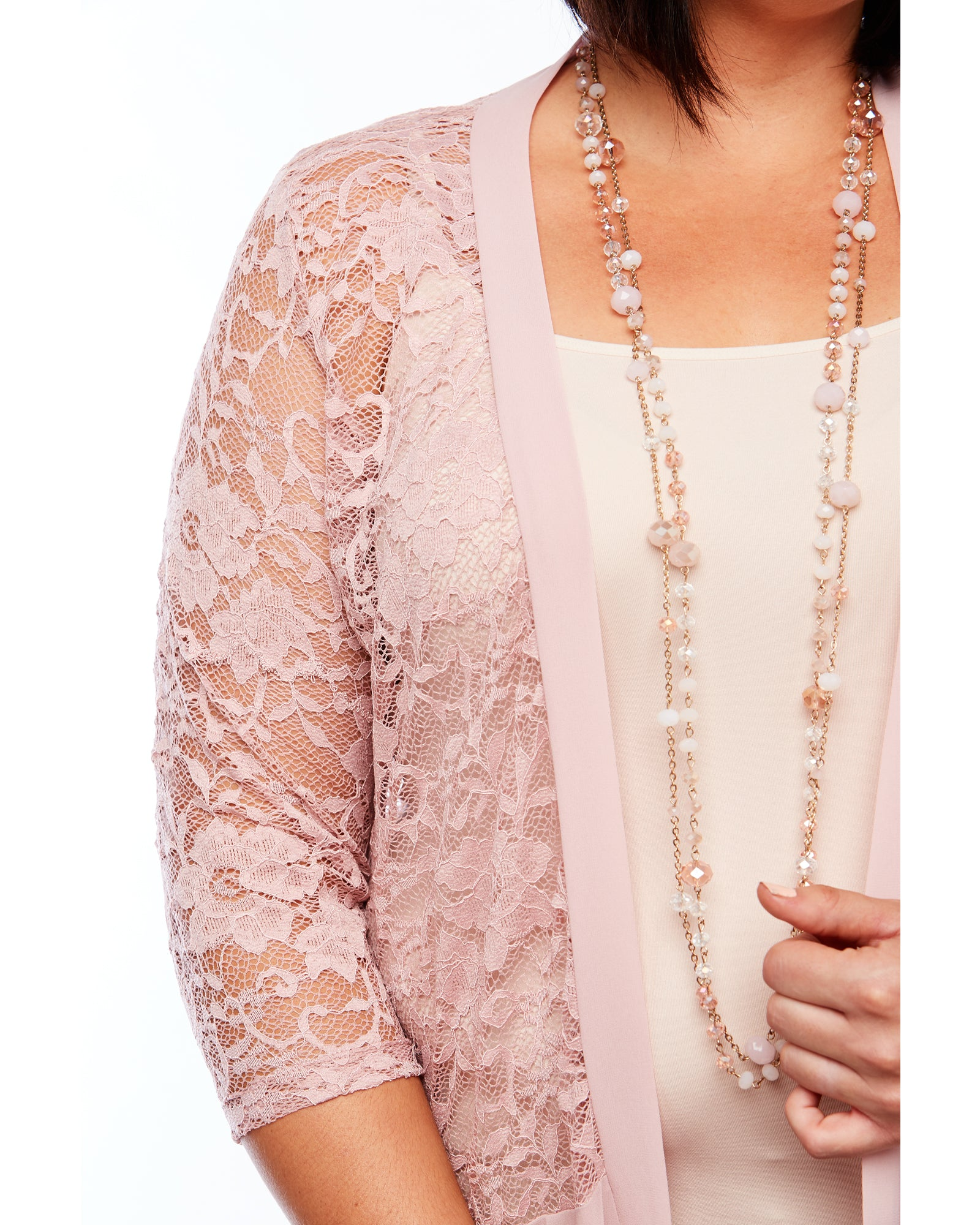 Pink Lace Cardigan, Pink Cover Up Room To Move