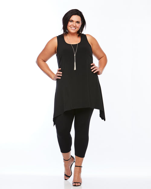 Room To Move Tunic, Plus size tunic, black tunic