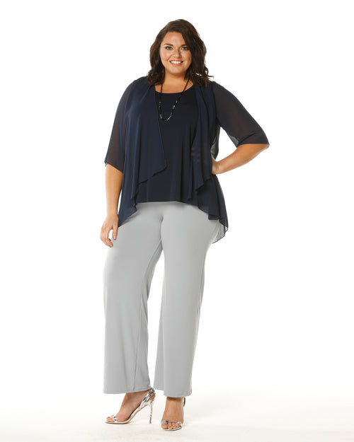 Linda 2 In 1 Tunic - Navy- NOW IN SIZE 26