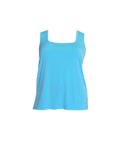 Square Neck Singlet -Aqua size 14,18 50% off