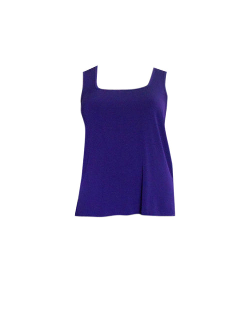 Square Neck Singlet - Purple size 14 &16