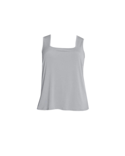Square Neck Singlet - Silver Grey