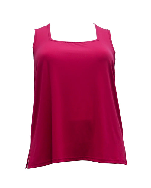 Plus size singlet top pink